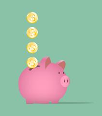 salvadanaio, risparmio, soldi, guadagni, spese