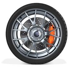 3d detailed car wheel