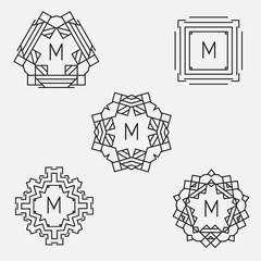 Monogram design template.