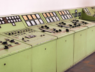lost places - old switchboard at an industrial place