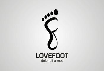 Foot creative logo vector