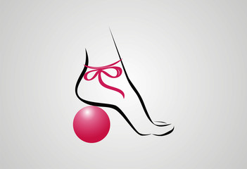 Beauty foot logo vector