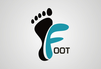 Foot creative logo vector