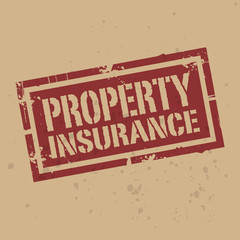 Abstract stamp or label with text Property Insurance