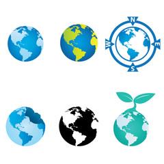 World and Globe Design Vector