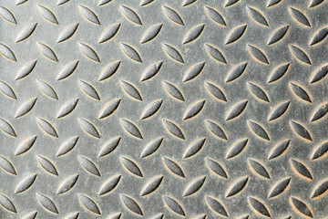 The damage metal diamond plate