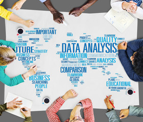 Data Analysis Analytics Comparison Information Networking Concep