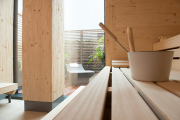 inside a sauna