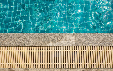 swimming pool and gutter water overflow and sand wash terrace