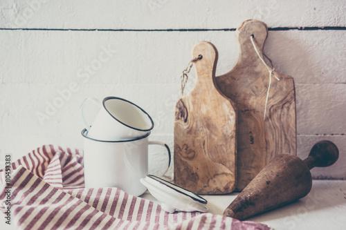 Rustic dinnerware © ehaurylik