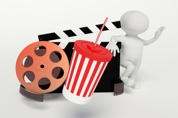 Film reel,movie strip,disposable cup for beverages with straw