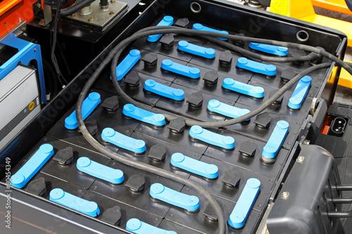 Leinwanddruck Bild Forklift battery