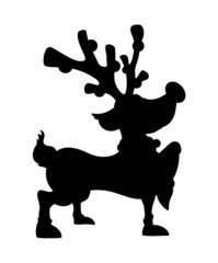 Cute Reindeer Walking Shape