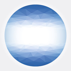 Low poly circle blue abstract