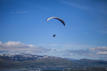 Paragliding over Norway