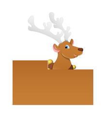 Dancer Cartoon Reindeer Christmas Banner
