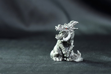 pewter figurine demon