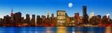 Late evening New York City skyline panorama - 80459119