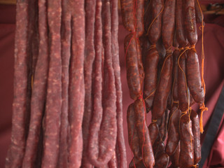Chorizos en feria