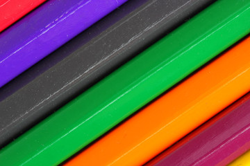 Colorful pencils close