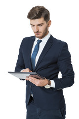 Businessman using a tablet computer