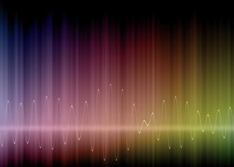 Onde elettriche su sfondo colorato