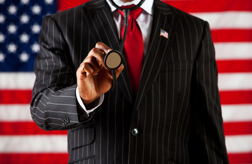 Politician: Holding Out Stethoscope
