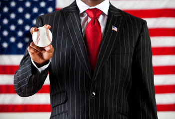 Politician: Holding a Baseball