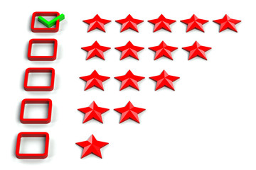 Rating stars checkbox
