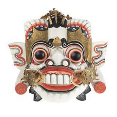 Balinese mask isolated on white