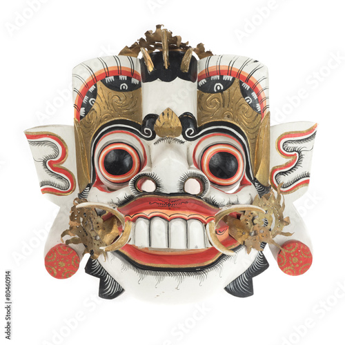Foto op Plexiglas Indonesië Balinese mask isolated on white