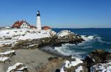 Portland Head Lighthouse in winter, Cape Elizabeth, Maine