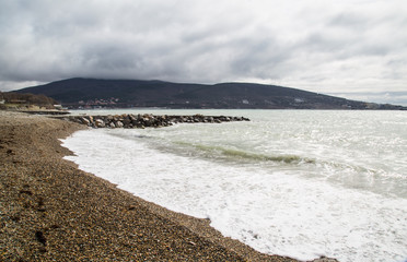 Oceanside, storm
