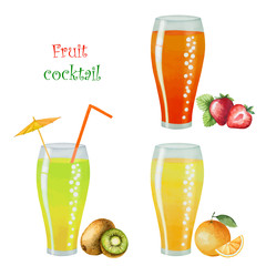 Fruit drink in glasses