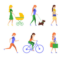 Healthy lifestyle. Physical activity flat  of extremely