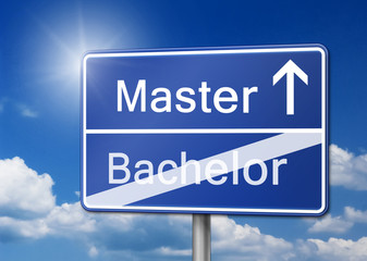 Master Bachelor Schild