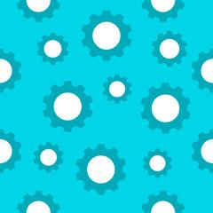 Seamless wallpaper pattern -  gears on yellow. Vector