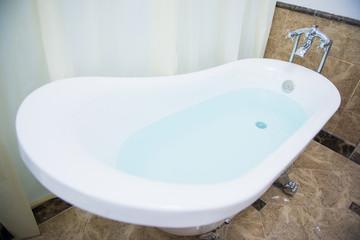 luxury bathtub in bathroom