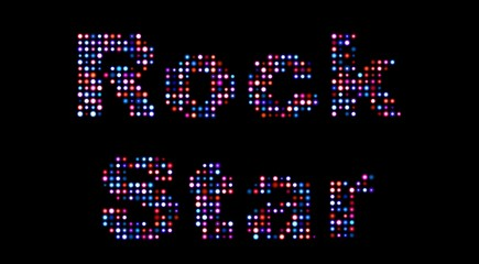 Rock star led sign