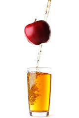 Juice pouring from apple