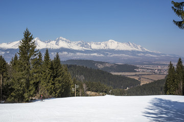 Landscape High Tatra Mountains in winter