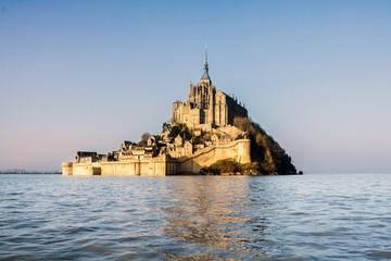 Mont St Michel à marée haute