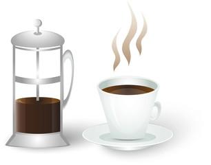 Кофейник и чашка