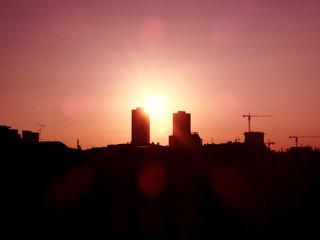 Gün Batımı İkiz Kule