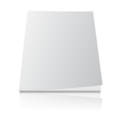 blank magazine template cover on white