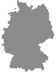 Germany map consisting of squares
