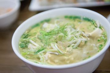 pho noodle soup is local food in Vietnam