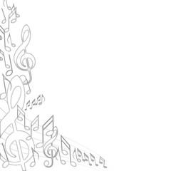 fetes de la musique notes blanches