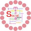 social media tag cloud, vector illustration