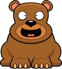 Cartoon Brown Bear Happy
